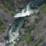 Rivier de Gunnison in Black Canyon